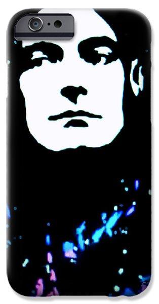 Robert Plant Paintings iPhone Cases - Robert Plant Pop Art iPhone Case by Ryszard Sleczka