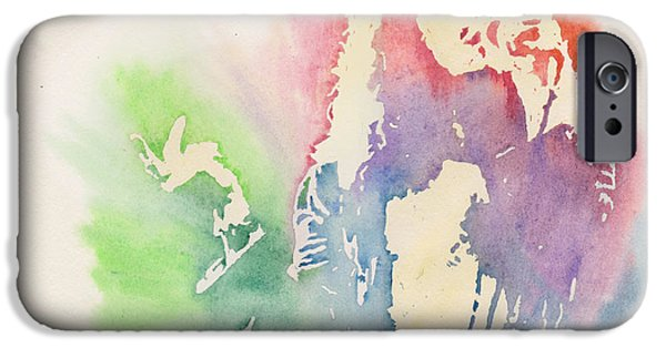 Robert Plant Paintings iPhone Cases - Robert Plant iPhone Case by Robert Nipper