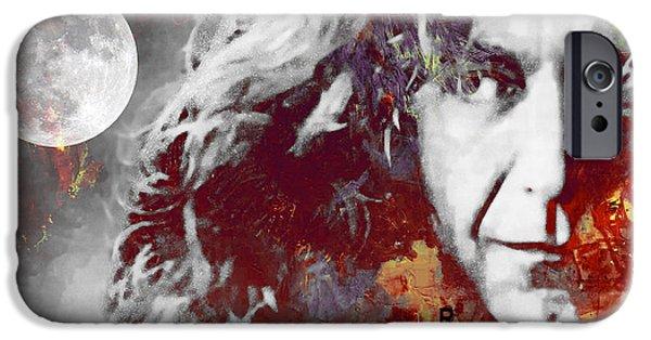 Robert Plant iPhone Cases - Robert Plant iPhone Case by Stefan Kuhn