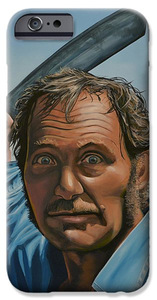 Realistic Art iPhone Cases - Robert Shaw in Jaws iPhone Case by Paul  Meijering