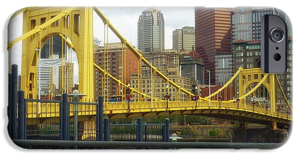 Roberto Clemente iPhone Cases - Roberto Clemente Bridge - Pittsburgh iPhone Case by Mountain Dreams