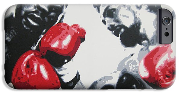 Roberto Paintings iPhone Cases - Roberto Duran 2 iPhone Case by Geo Thomson