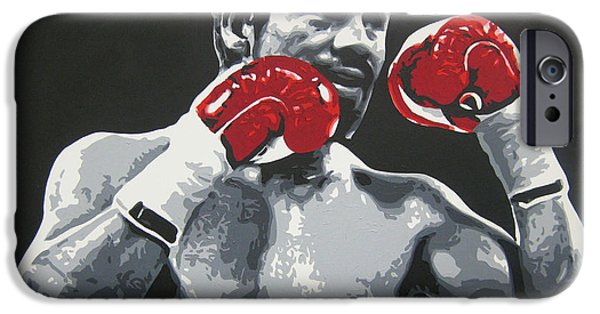 Roberto Paintings iPhone Cases - Roberto Duran 3 iPhone Case by Geo Thomson