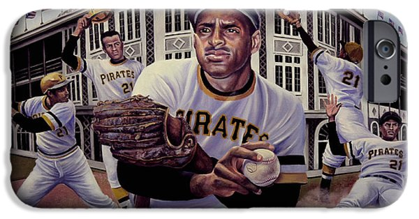 Clemente Paintings iPhone Cases - Roberto iPhone Case by Frederick Carrow