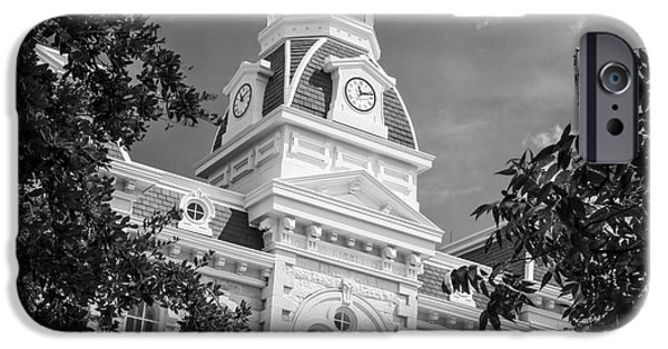 Franklin iPhone Cases - Robertson County Courthouse BW iPhone Case by Joan Carroll