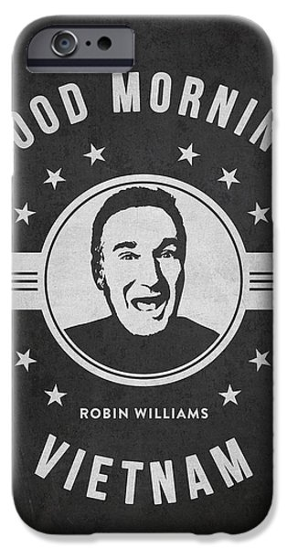 Acting iPhone Cases - Robin Williams - Dark iPhone Case by Aged Pixel