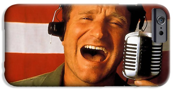 Star iPhone Cases - Robin Williams Good Morning Vietnam  iPhone Case by Marvin Blaine