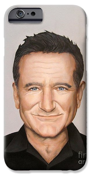 Painter Photo Mixed Media iPhone Cases - Robin Williams iPhone Case by Venus