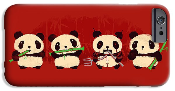 Child Digital iPhone Cases - Robot Panda iPhone Case by Budi Kwan