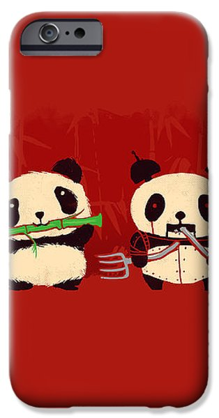 Robot Panda iPhone Case by Budi Kwan
