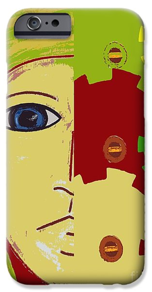 Shower Head iPhone Cases - Robot iPhone Case by Patrick J Murphy
