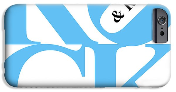 Beatles iPhone Cases - Rock And Roll 20130708 Blue White Black iPhone Case by Wingsdomain Art and Photography