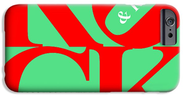 Beatles iPhone Cases - Rock And Roll 20130708 Red Green White iPhone Case by Wingsdomain Art and Photography