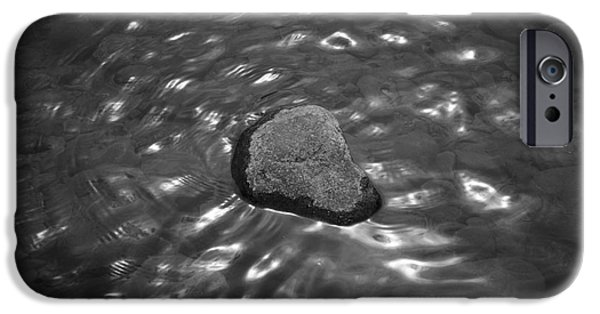 Oak Creek iPhone Cases - Rock and Sun Reflections iPhone Case by David Gordon