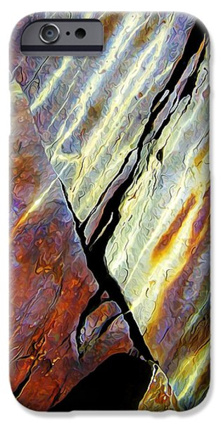Modern Abstract iPhone Cases - Rock Art 16V iPhone Case by Bill Caldwell -        ABeautifulSky Photography