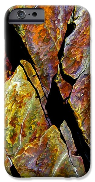Abstract Digital Photographs iPhone Cases - Rock Art 17 iPhone Case by Bill Caldwell -        ABeautifulSky Photography