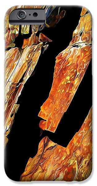 Abstract Digital Photographs iPhone Cases - Rock Art 21 iPhone Case by Bill Caldwell -        ABeautifulSky Photography