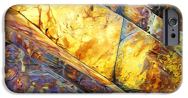 Abstract Digital Photographs iPhone Cases - Rock Art 23 iPhone Case by Bill Caldwell -        ABeautifulSky Photography