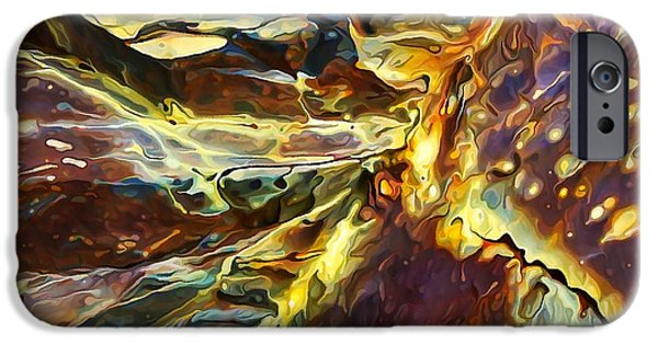 Abstract Digital Photographs iPhone Cases - Rock Art 27 iPhone Case by Bill Caldwell -        ABeautifulSky Photography