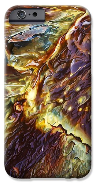 Abstract Digital Photographs iPhone Cases - Rock Art 28 iPhone Case by Bill Caldwell -        ABeautifulSky Photography