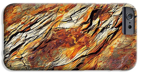Abstract Digital Photographs iPhone Cases - Rock Art 7 iPhone Case by Bill Caldwell -        ABeautifulSky Photography