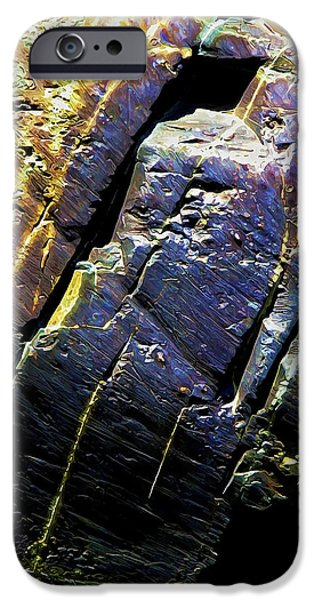 Abstract Digital Photographs iPhone Cases - Rock Art 9 iPhone Case by Bill Caldwell -        ABeautifulSky Photography
