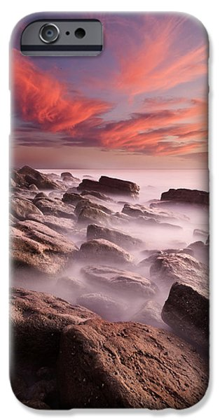 Red Rock iPhone Cases - Rock caos iPhone Case by Jorge Maia