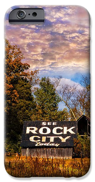 Rock City Barn iPhone Case by Debra and Dave Vanderlaan