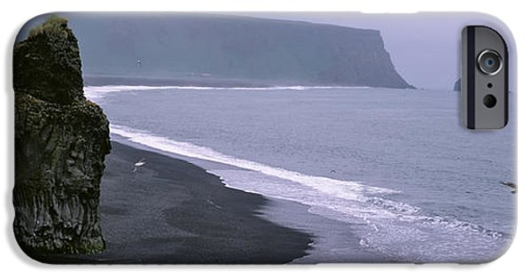 Sea Birds iPhone Cases - Rock Formation On The Beach iPhone Case by Panoramic Images