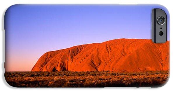 Horizon Over Land iPhone Cases - Rock Formation, Uluru, Uluru-kata Tjuta iPhone Case by Panoramic Images