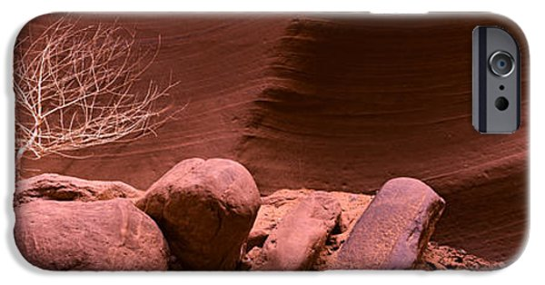 Red Rock iPhone Cases - Rock Formations, Antelope Canyon, Lake iPhone Case by Panoramic Images