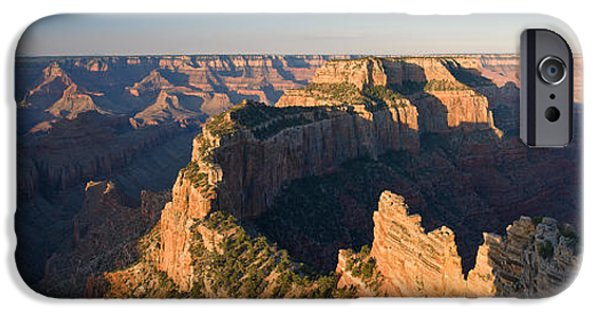 Grand Canyon iPhone Cases - Rock Formations At A Canyon, North Rim iPhone Case by Panoramic Images