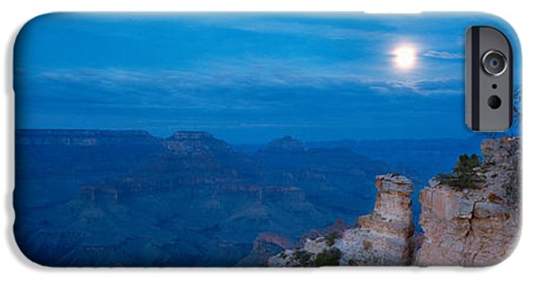 Grand Canyon iPhone Cases - Rock Formations At Night, Yaki Point iPhone Case by Panoramic Images