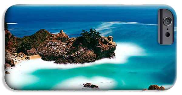 Big Sur Beach iPhone Cases - Rock Formations At The Coast, Big Sur iPhone Case by Panoramic Images