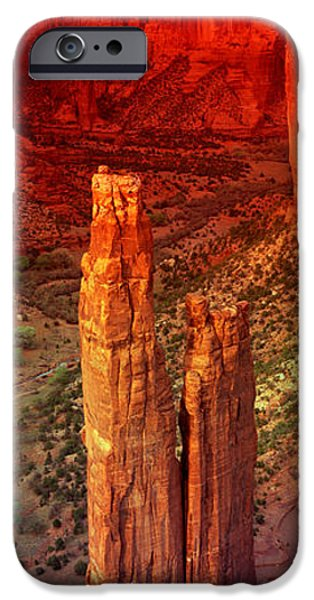 Chelly iPhone Cases - Rock Formations In A Desert, Spider iPhone Case by Panoramic Images
