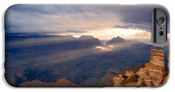Grand Canyon iPhone Cases - Rock Formations In A National Park iPhone Case by Panoramic Images