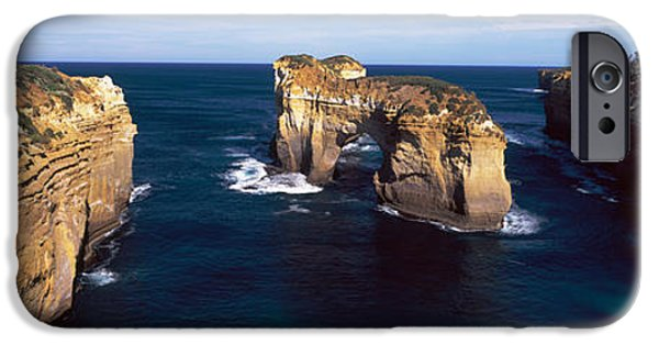 Ocean Sunset iPhone Cases - Rock Formations In The Ocean, Campbell iPhone Case by Panoramic Images