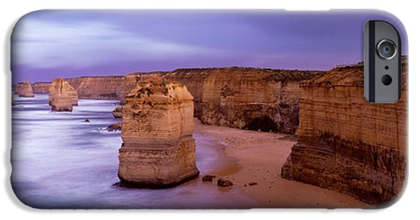 Great Mysteries iPhone Cases - Rock Formations In The Sea, Twelve iPhone Case by Panoramic Images