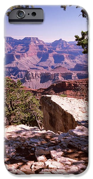 South Rim iPhone Cases - Rock Formations, Mather Point, South iPhone Case by Panoramic Images