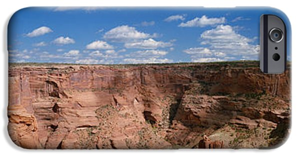 Chelly iPhone Cases - Rock Formations On A Landscape, South iPhone Case by Panoramic Images