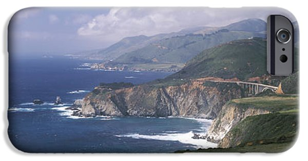 Big Sur Beach iPhone Cases - Rock Formations On The Beach, Bixby iPhone Case by Panoramic Images