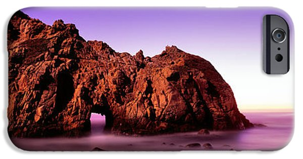 Big Sur Beach iPhone Cases - Rock Formations On The Beach, Pfeiffer iPhone Case by Panoramic Images
