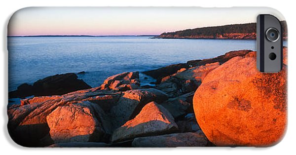 Maine iPhone Cases - Rock Formations On The Coast, Otter iPhone Case by Panoramic Images
