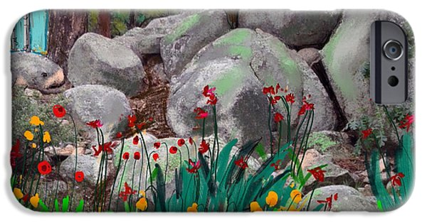 Prescott Mixed Media iPhone Cases - Rock garden iPhone Case by Craig Nelson