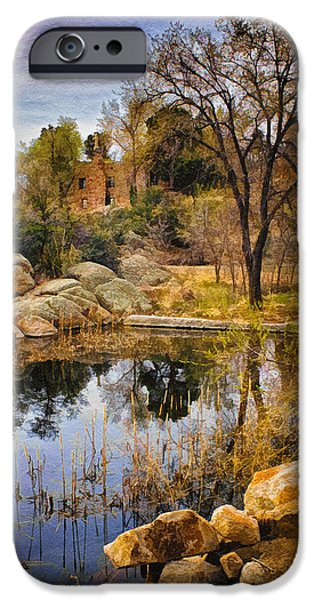 Watson Lake iPhone Cases - Rock House at Granite Dells iPhone Case by Priscilla Burgers