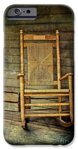 Rocking Chairs Photographs iPhone Cases - Rock Me Gently iPhone Case by Colleen Kammerer