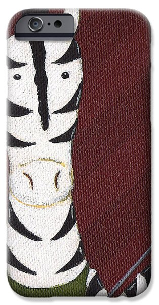 Rock 'n Roll Zebra iPhone Case by Christy Beckwith