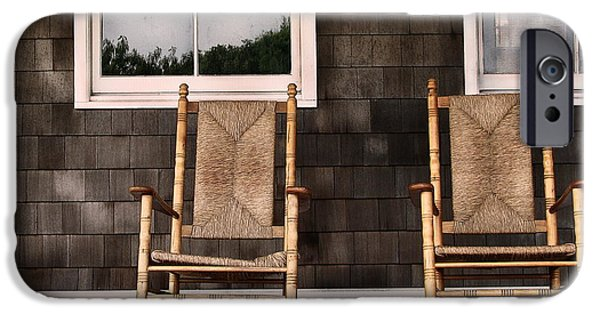 Rocking Chairs Photographs iPhone Cases - Rock On iPhone Case by Colleen Kammerer