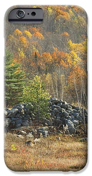 Rock Pile In Maine Blueberry Field iPhone Case by Keith Webber Jr