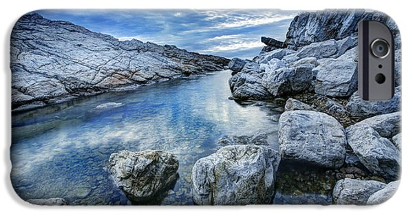 Sea iPhone Cases - Rock Pool 1 iPhone Case by Simon Kayne